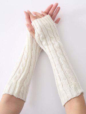 Mitaines en tricot a motif chanvre de noël