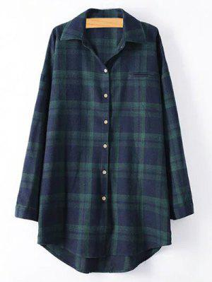 Plus Size Tartan Checkered Shirt