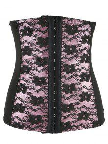 Retro Steal Boned Underbust Lace Corset - Shallow Pink 4xl
