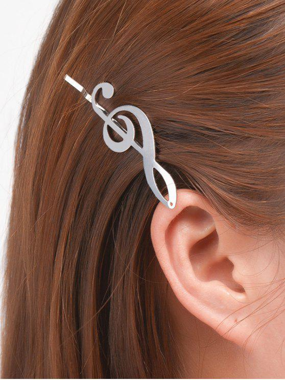 outfits Music Note Alloy Hair Accessory - SILVER
