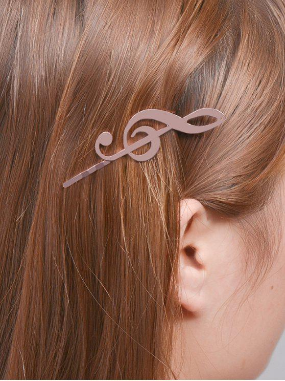 shop Music Note Alloy Hair Accessory - ROSE GOLD
