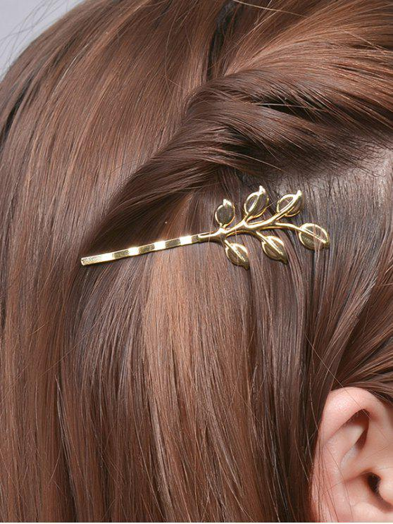 sale Leaves Alloy Hair Accessory - GOLDEN