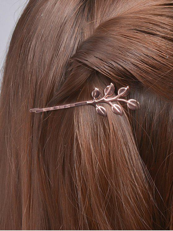 buy Leaves Alloy Hair Accessory - ROSE GOLD