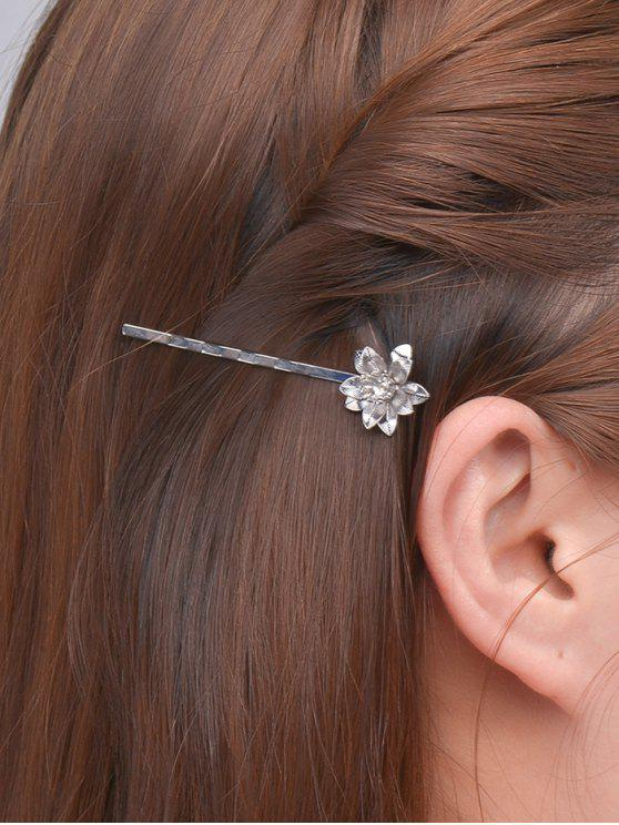 lady Floral Alloy Hair Accessory - SILVER