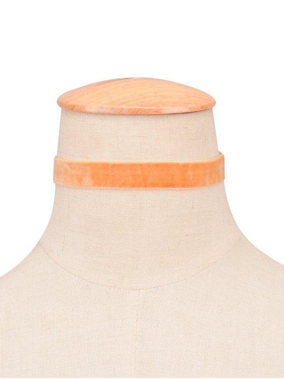 قلادة مخلية واسعة - البرتقالي