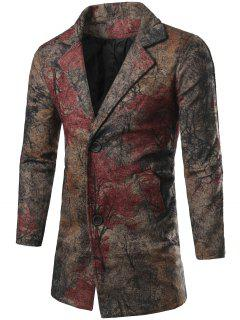 Single Breasted All-Over Printed Coat - L