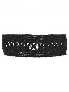 Lace Criss Cross Choker - Black