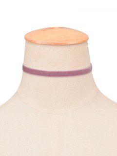 Velvet Choker Necklace - Light Purple