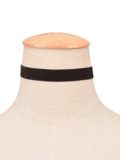 Velvet Wide Choker - Black