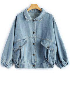 Patch Design Jean Jacket - Light Blue S