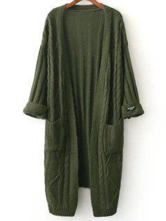 Veste En Tricote A Col Rond - #00ff00