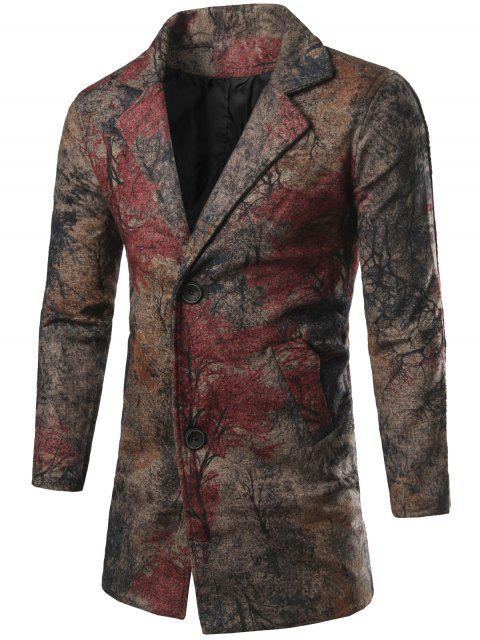 shops Single Breasted All-Over Printed Coat - COLORMIX L Mobile