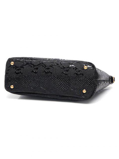 sale Embossed PU Leather Metals Shoulder Bag -   Mobile