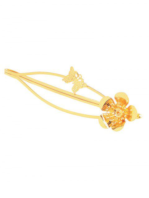 online Butterfly Flower Hair Accessory - GOLDEN  Mobile