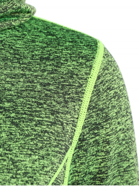 affordable Sports Drawstring Hoodie - GREEN M Mobile