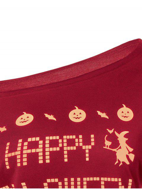 online Witches Halloween Sweatshirt - RED L Mobile