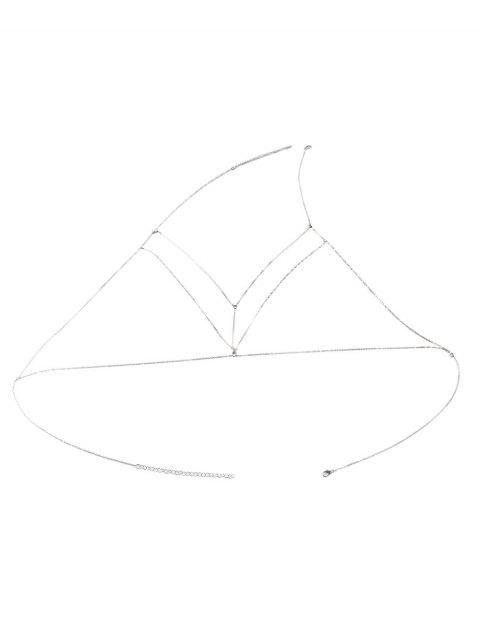 lady Geometric Adorn Body Chain - SILVER  Mobile