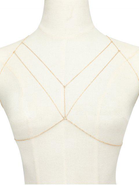 best Geometric Adorn Body Chain - GOLDEN  Mobile
