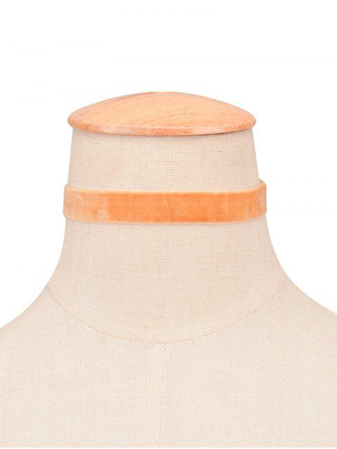 Samt Wide Choker - Orange  Mobile