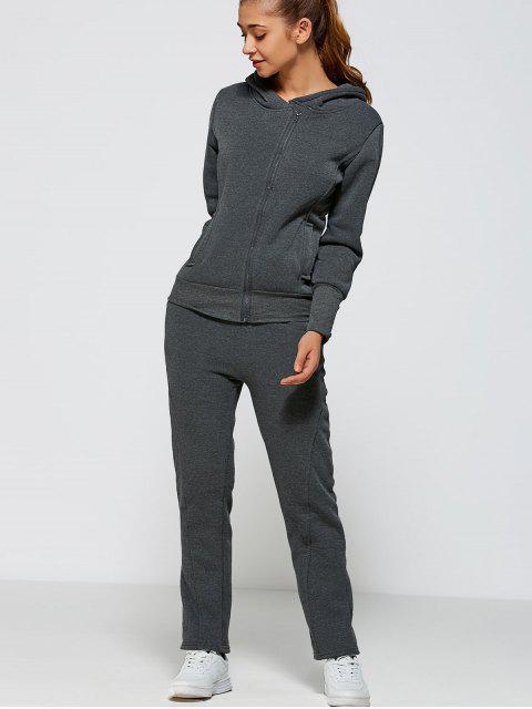 shops Zip Up Hoodie and Pants - DEEP GRAY M Mobile
