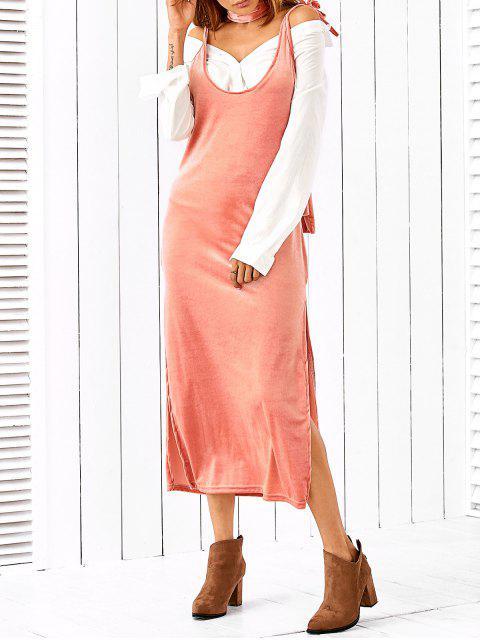 Side Robe Slip Furcal avec écharpe - ROSE PÂLE S Mobile