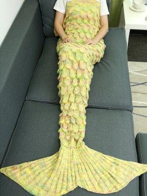Couverture en Queue de sirène très souple évidéé tricotée