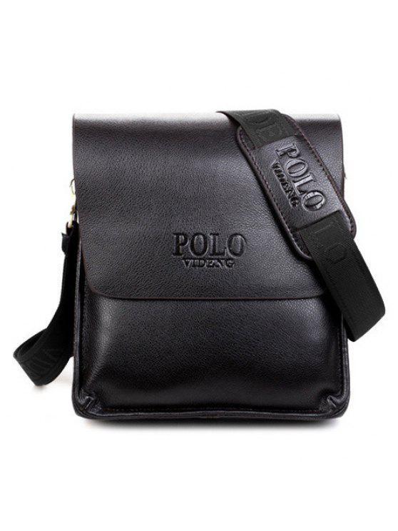 حقيبة الرسالة طباعة الحرف - أسود