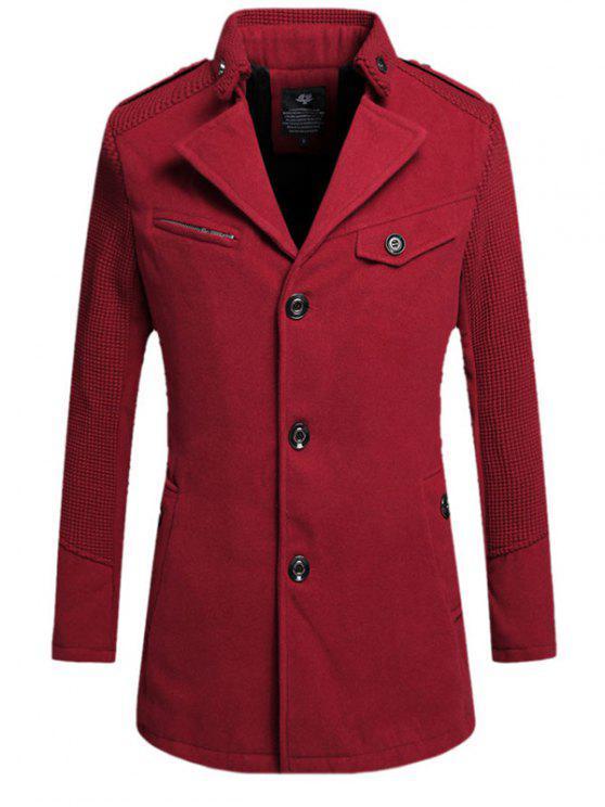 Monopetto gira giù il cappotto di lana - Vino rosso L