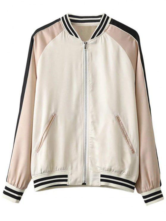 fashion Fish Embroidered Souvenir Jacket - OFF-WHITE S