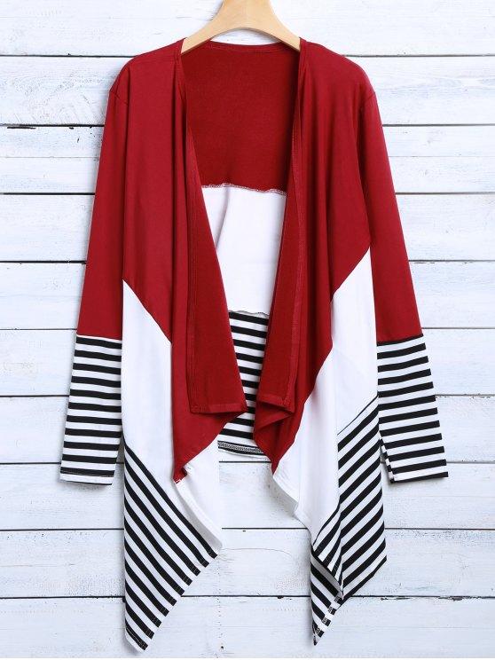 unique Asymmetric Cardigan - RED XL