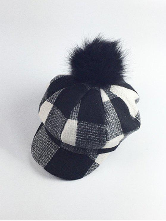 5701812bfb1 2019 Pom Ball Embellished Newsboy Hat In BLACK