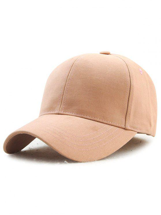 latest Hot Sale Adjustable Outdoor Pure Color Baseball Cap - BEIGE RED