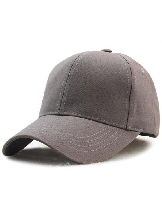 fashion Hot Sale Adjustable Outdoor Pure Color Baseball Cap - GRAY