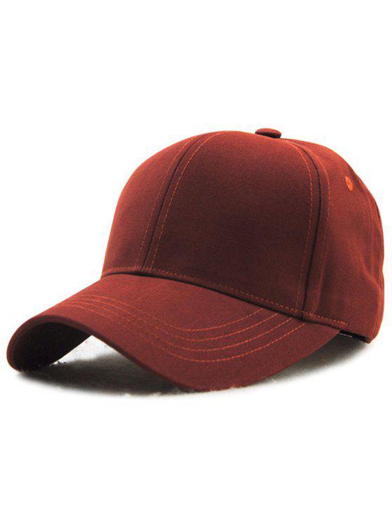 chic Hot Sale Adjustable Outdoor Pure Color Baseball Cap - CLARET