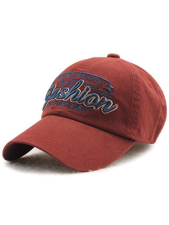 Gorra de béisbol ajustable Cartas al aire libre del bordado - Burdeos