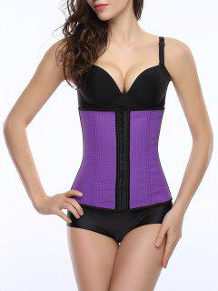Cut Out Cami Color Block Corset - Purple L