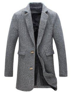 Revers Du Manteau Boutonné Tweed - Gris 2xl