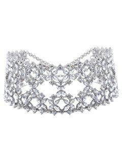 Hollowed Strass Large Choker -