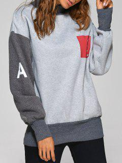 Graphic Patch Sweatshirt - Gray