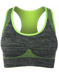 Padded Racerback Gym Sports Bra - Fluorescent Yellow L
