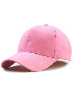 Hot Sale Adjustable Outdoor Pure Color Baseball Cap - Shallow Pink