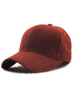 Hot Sale Adjustable Outdoor Pure Color Baseball Cap - Claret