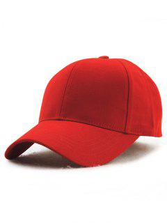 Hot Sale Adjustable Outdoor Pure Color Baseball Cap - Deep Red
