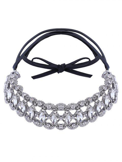 fashion Rhinestone Teardrop Choker -   Mobile