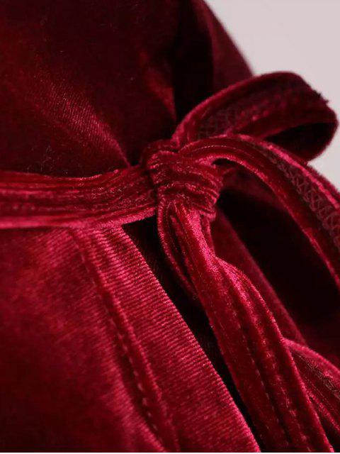 fashion Velour Wrap Top - CADETBLUE ONE SIZE Mobile