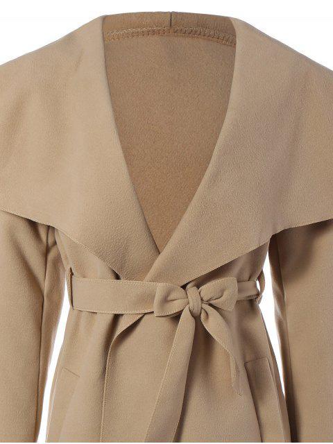 manteau châle  a ceinturon - Kaki L Mobile
