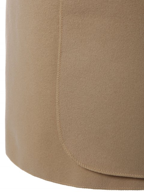 affordable Shawl Lapel Belted Wrap Coat - KHAKI 2XL Mobile
