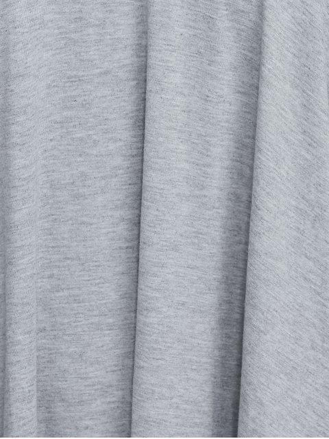shops Plus Size Keyhole Neck Dress - LIGHT GRAY 2XL Mobile