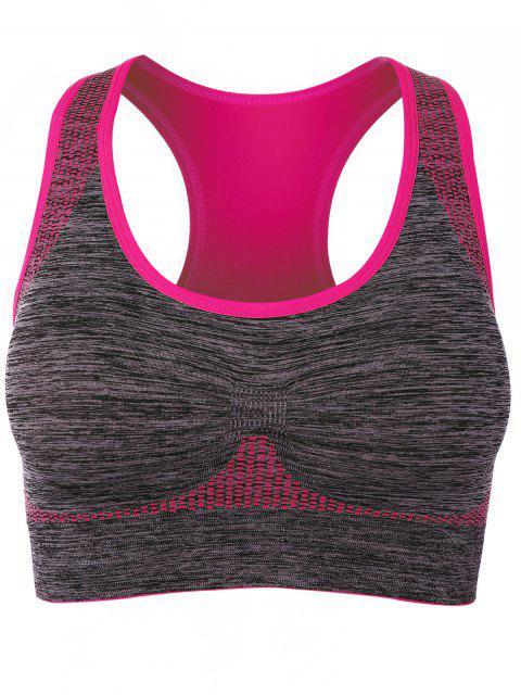 sale Padded Racerback Gym Sports Bra - ROSE MADDER M Mobile