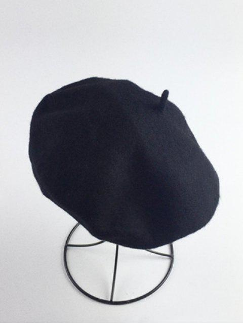 women's Art Painter Felt Beret - BLACK  Mobile